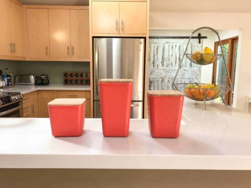 Bamboo Fiber Airtight Kitchen Canisters
