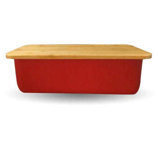 Red Bread Box Side View