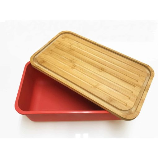 Bamboo Bread Lid with Crumb Catchers